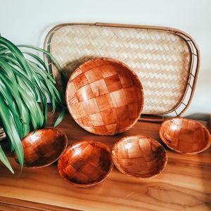 Vintage wooden bowl set